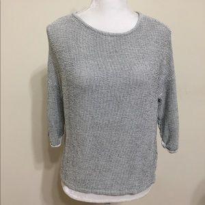 Zara Collection Black White Striped Shirt Size S